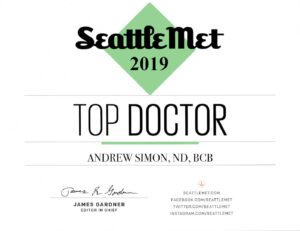 Seattle Met Top Doctor 2019 Naturopathic Physician